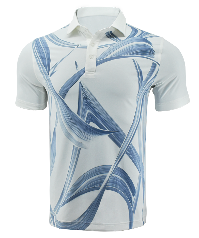 Polo Polyester Spandex Sublimation Golf Shirt Custom T shirts