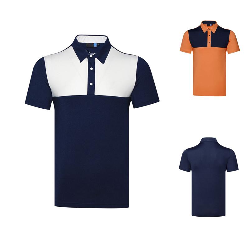 Newest 2021 Short-Sleeve  breathable Shirt Men Golf Polo Shirt factory supplier